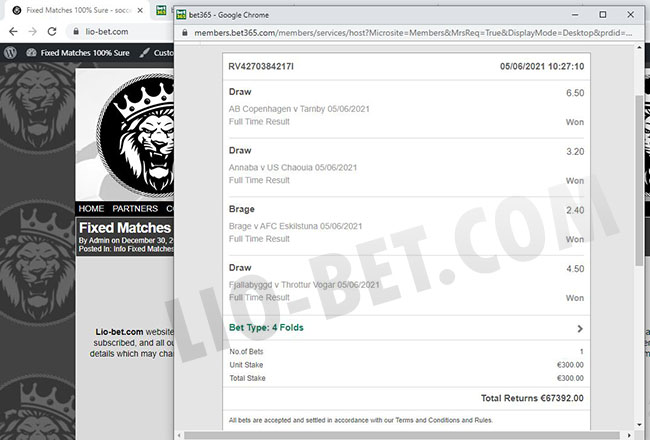 online soccer fixed betting